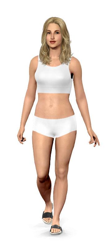 Weight loss simulator app
